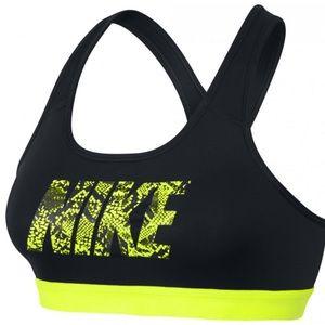 Nike Black & Neon Green Dri-Fit Sports Bra Medium